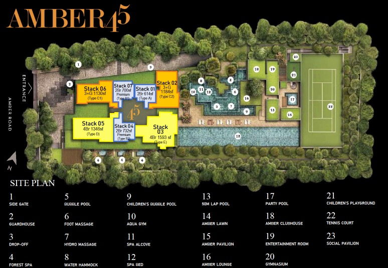 Amber 45 Freehold Site plan