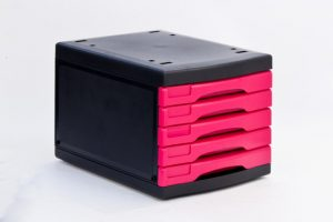Pink Black Multi-Storage Drawers